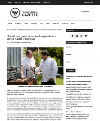 FOOD AND WINE GAZETTE - 13/06/2016